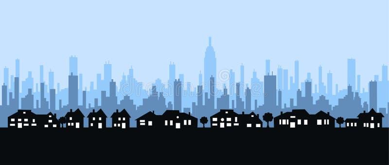 Horizonte de la ciudad libre illustration