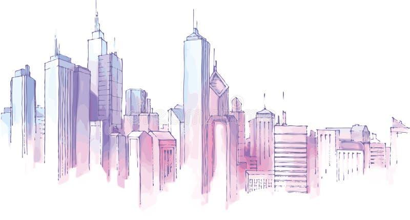Horizonte de la ciudad. ilustración del vector
