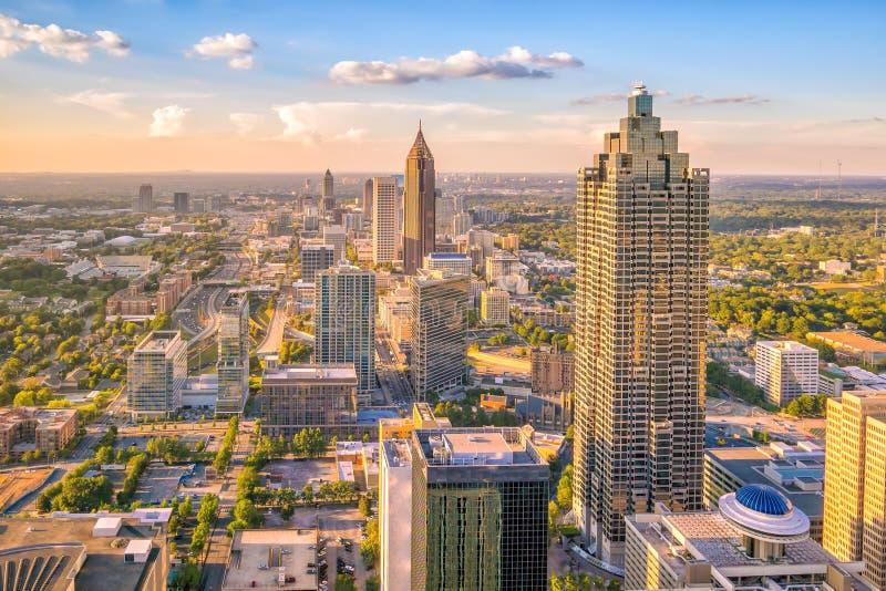 Horizonte de la ciudad de Atlanta foto de archivo