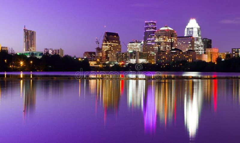 Horizonte de la ciudad - Austin, TX foto de archivo libre de regalías