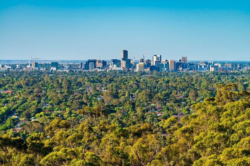 Horizonte de la ciudad de Adelaide fotografía de archivo libre de regalías