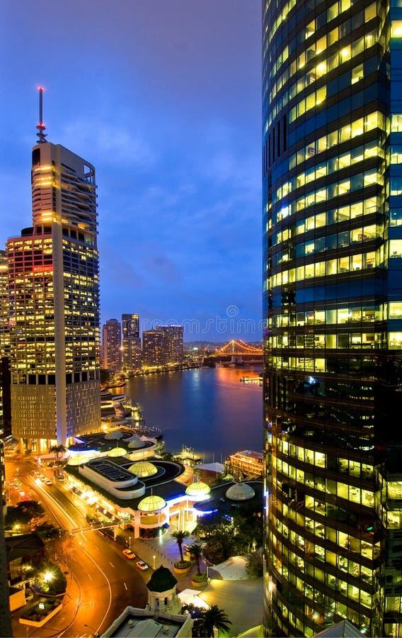 Horizonte de la ciudad de Brisbane fotografía de archivo libre de regalías