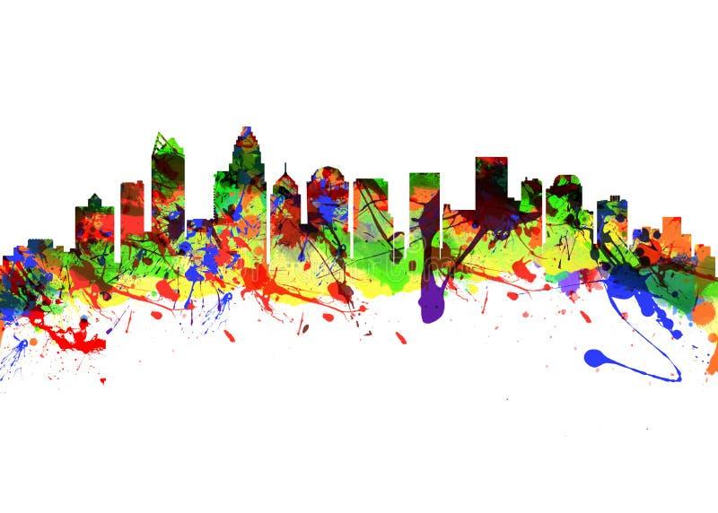 Horizonte de la ciudad de Charlotte North Carolina los E.E.U.U. libre illustration