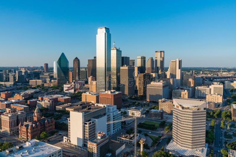 Horizonte de la ciudad de Dallas imagen de archivo libre de regalías