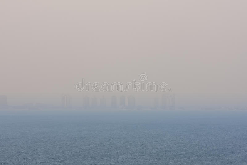 Horizonte de la ciudad de Doha foto de archivo