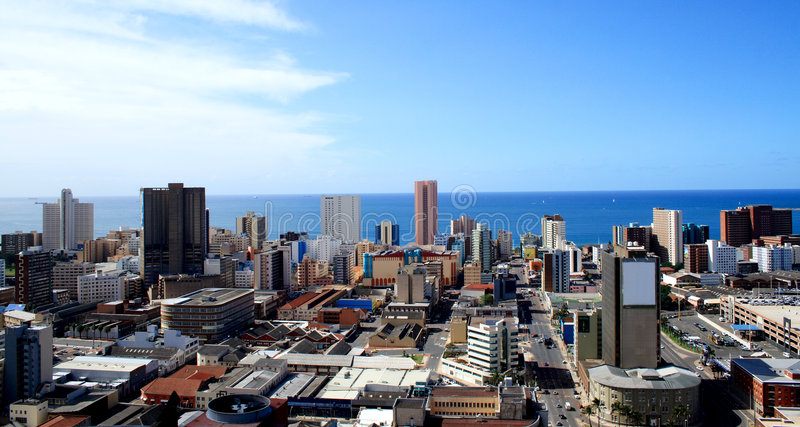 Horizonte de la ciudad de Durban imágenes de archivo libres de regalías