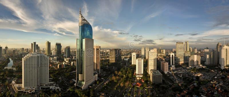Horizonte de la ciudad de Jakarta fotos de archivo libres de regalías