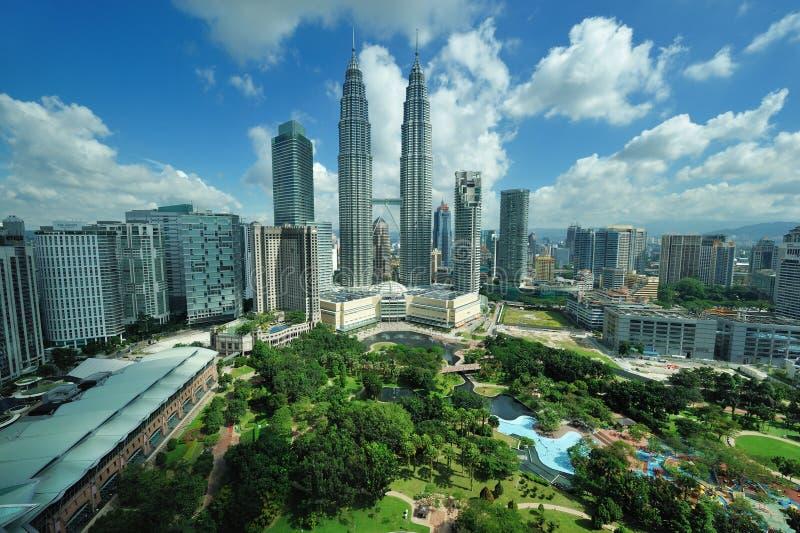 Horizonte de la ciudad de Kuala Lumpur, Malasia. imagen de archivo