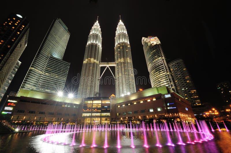 Horizonte de la ciudad de Kuala Lumpur, Malasia. Torres gemelas de Petronas. foto de archivo