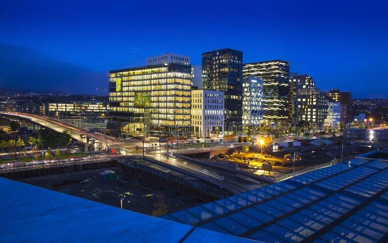 Horizonte de la ciudad de Oslo, Noruega fotos de archivo