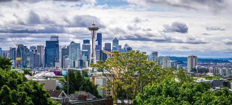 Horizonte de la ciudad de Seattle Washington del parque de kerry imágenes de archivo libres de regalías