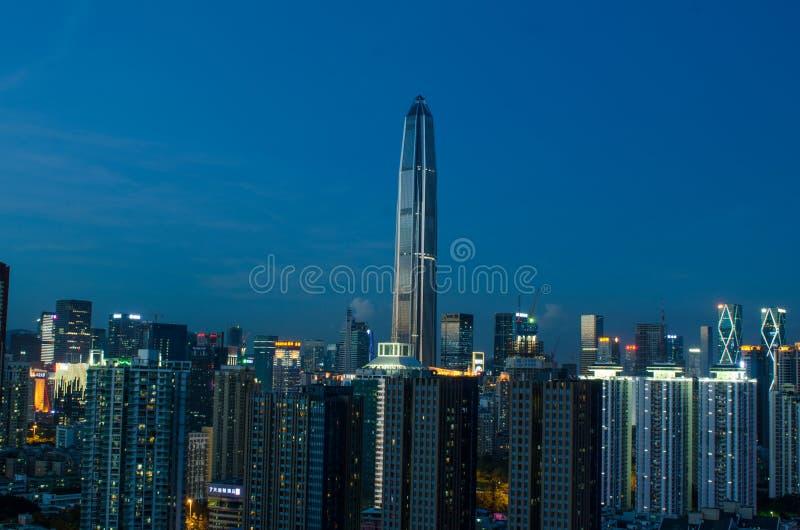 Horizonte de la ciudad de Shenzhen fotos de archivo