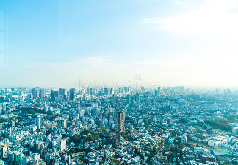 Horizonte de la ciudad de Tokio con la torre de Tokio fotografía de archivo