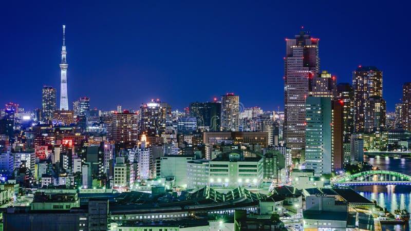 Horizonte de la ciudad de Tokio Japón imagen de archivo libre de regalías