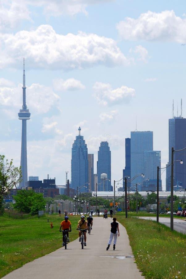 Horizonte de la ciudad de Toronto imágenes de archivo libres de regalías