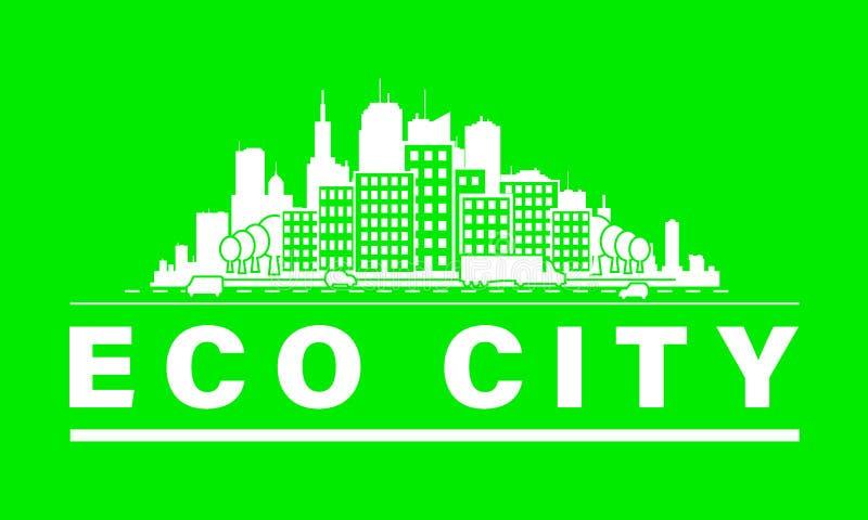 Horizonte de la ciudad de Eco stock de ilustración