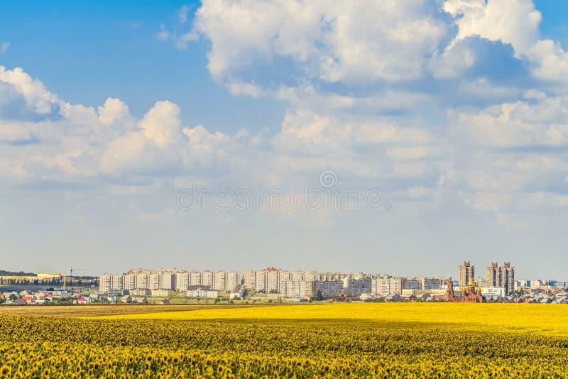 Horizonte de la ciudad de Gubkin, región de Belgorod, Rusia fotos de archivo