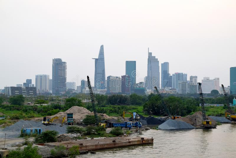 Horizonte de la ciudad de Ho Chi Minh foto de archivo libre de regalías