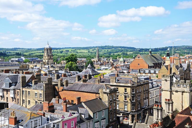 Horizonte de la ciudad, Oxford foto de archivo libre de regalías