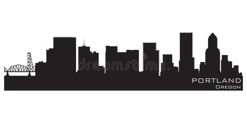 Horizonte de la ciudad de Portland, Oregon Silueta detallada del vector ilustración del vector