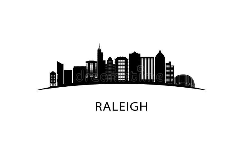 Horizonte de la ciudad de Raleigh ilustración del vector