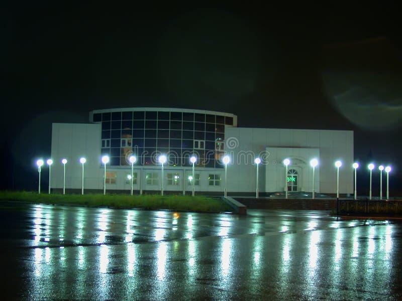 Horizonte de la noche Iceberg del hotel El pórtico imagen de archivo
