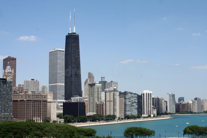 Horizonte de la orilla del lago de Chicago fotos de archivo