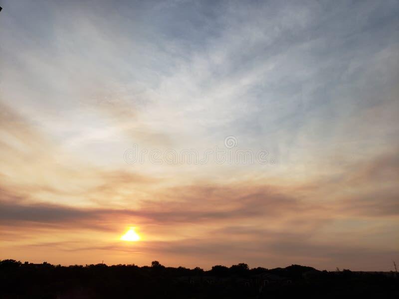 Horizonte de la puesta del sol fotografía de archivo