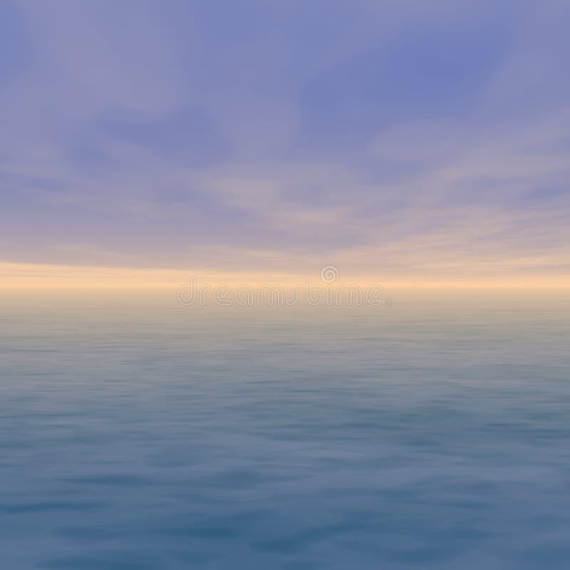 Horizonte de la puesta del sol libre illustration