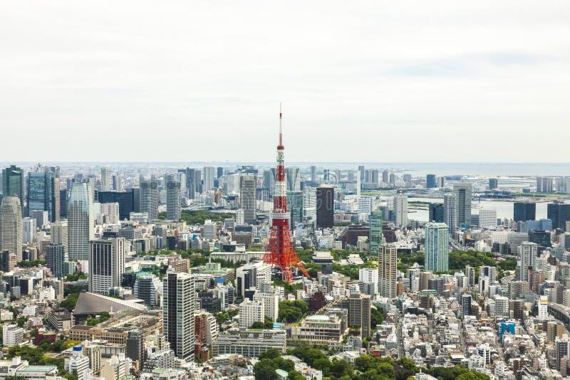 Horizonte de la torre y de la ciudad de Tokio, Japón fotografía de archivo libre de regalías