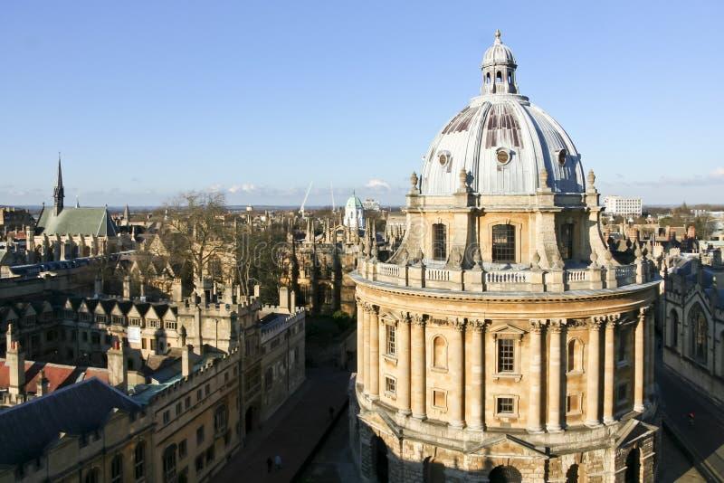 Horizonte de la Universidad de Oxford del edificio de biblioteca de Bodleian foto de archivo libre de regalías