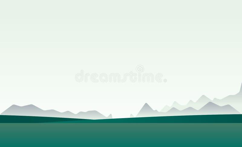 Horizonte de Ladscape stock de ilustración