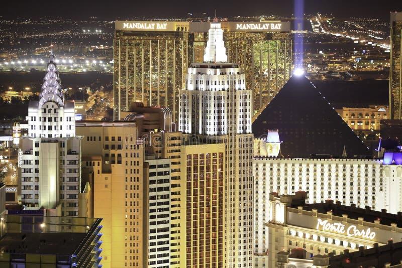 Horizonte de Las Vegas en la noche imagen de archivo libre de regalías