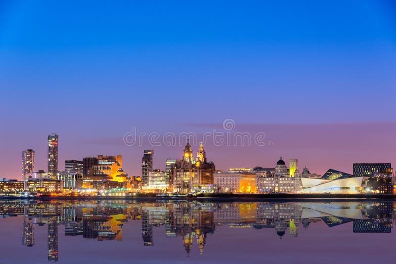 Horizonte de Liverpool foto de archivo