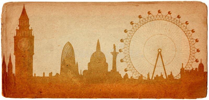 Horizonte de Londres stock de ilustración