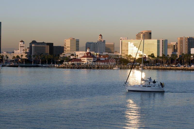 Horizonte de Long Beach fotos de archivo