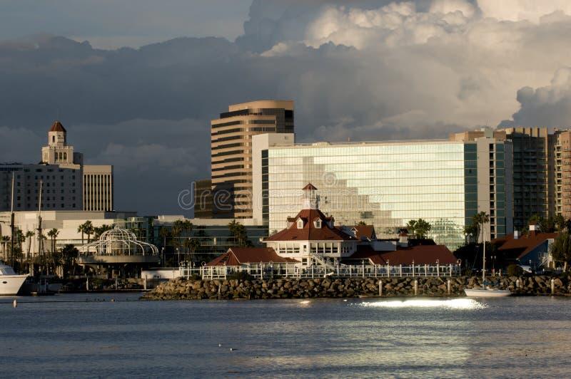 Horizonte de Long Beach imagen de archivo libre de regalías