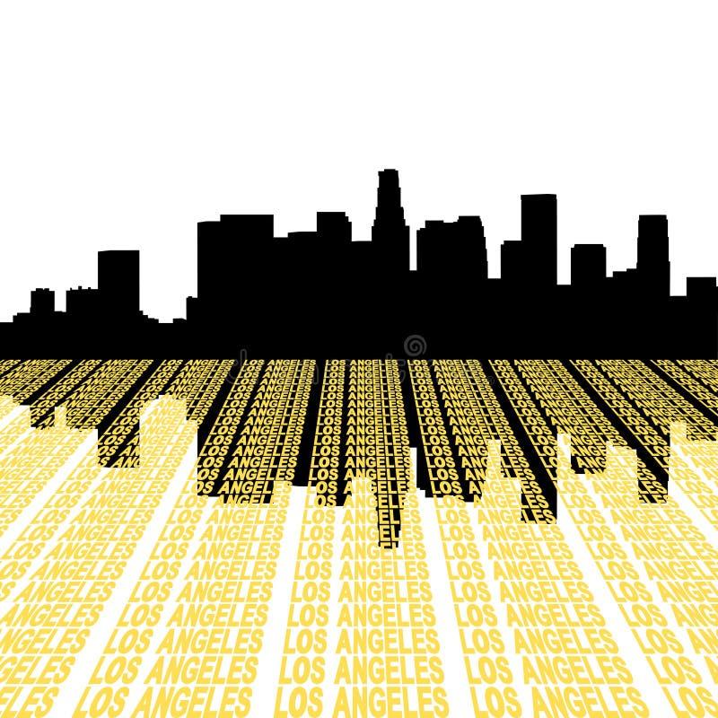 Horizonte de Los Ángeles con el texto libre illustration