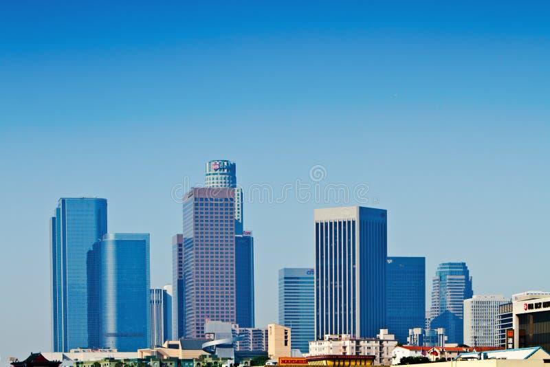 Horizonte de Los Ángeles en madrugada fotos de archivo libres de regalías