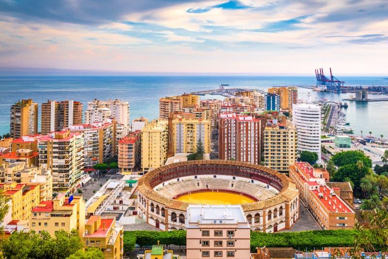 Horizonte de Málaga, España fotografía de archivo
