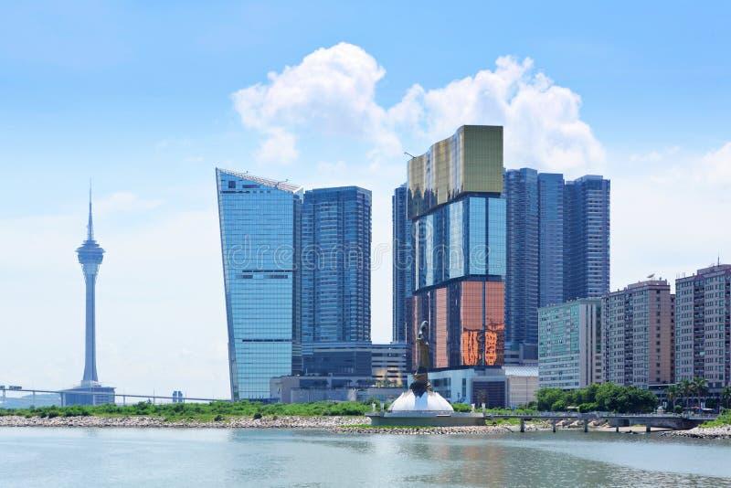 Horizonte de Macao fotos de archivo libres de regalías