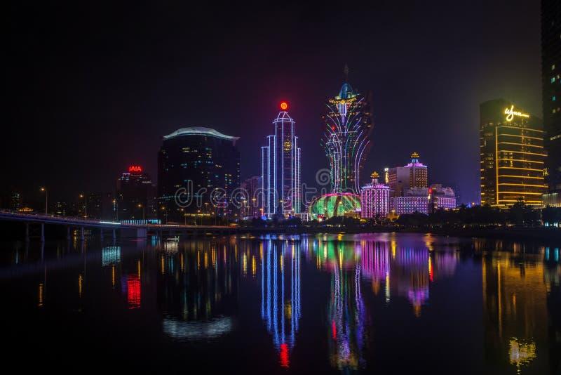 Horizonte de Macao imagenes de archivo