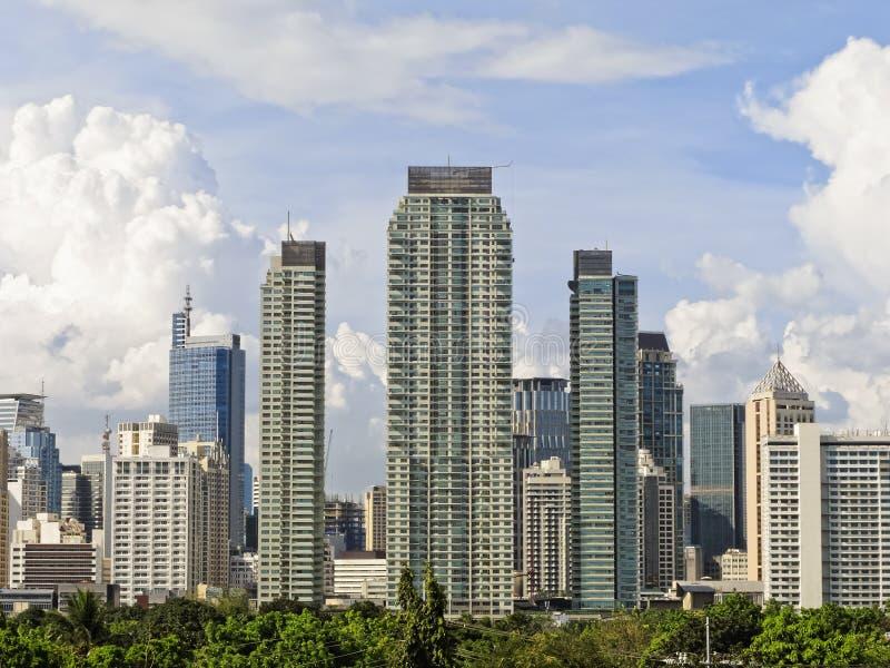 Horizonte de Makati imagen de archivo libre de regalías