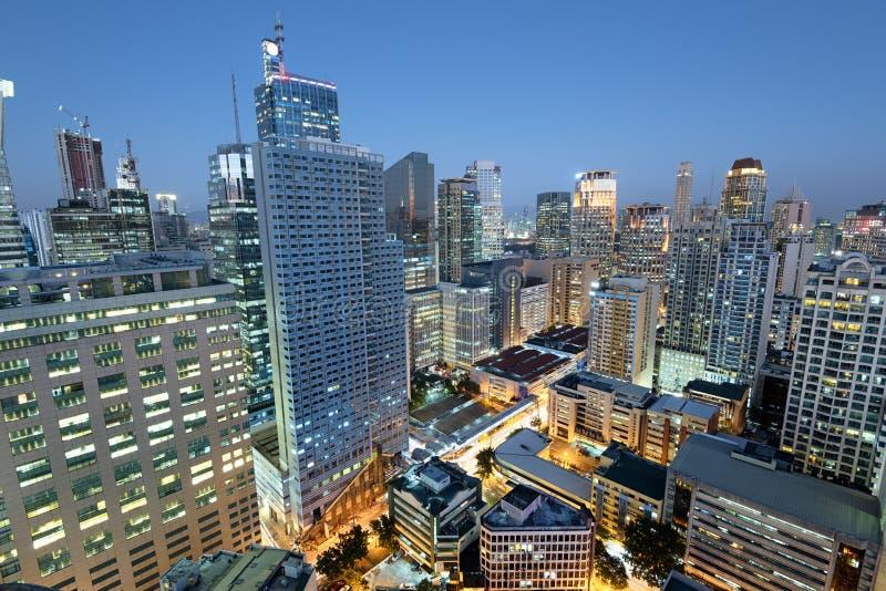 Horizonte de Makati en Manila - Filipinas imagenes de archivo