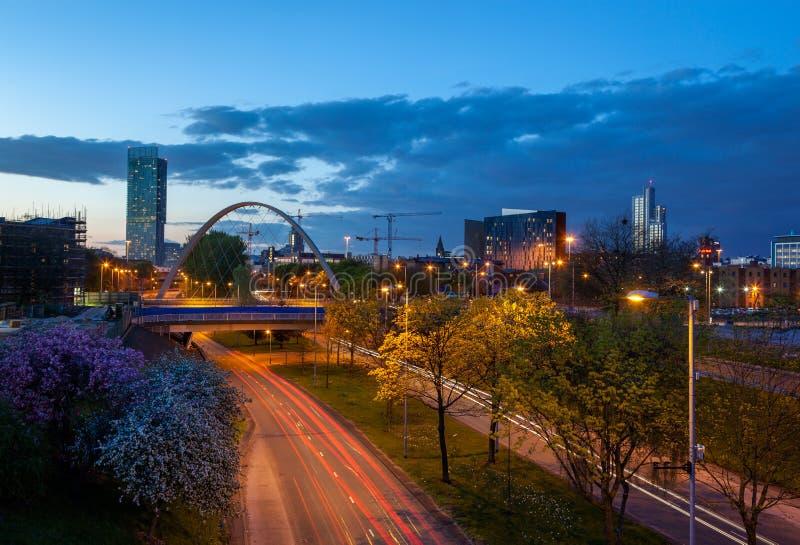 Horizonte de Manchester imagen de archivo