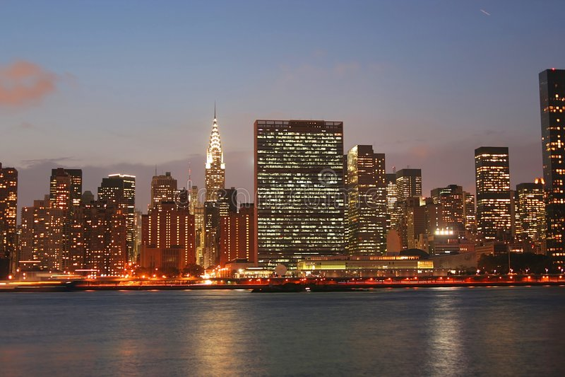 Horizonte de Manhattan foto de archivo