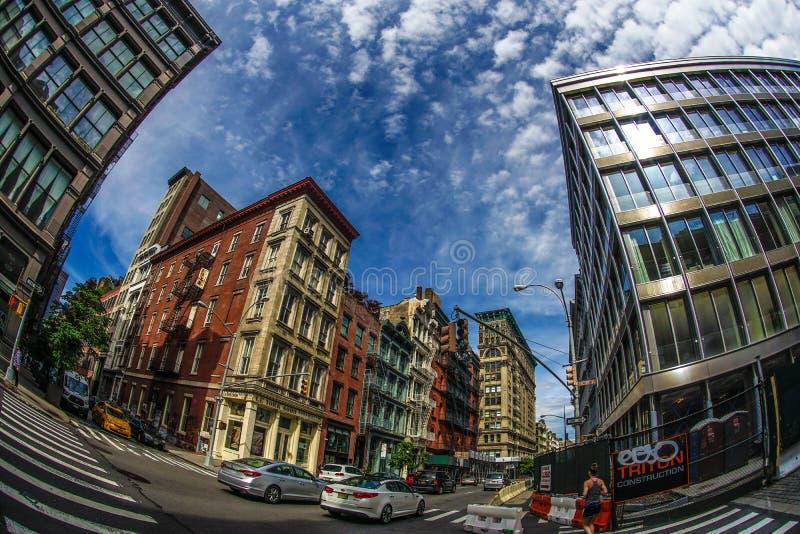 Horizonte de Manhattan, Nueva York imagenes de archivo