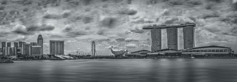 Horizonte de Marina Bay en Singapur fotos de archivo