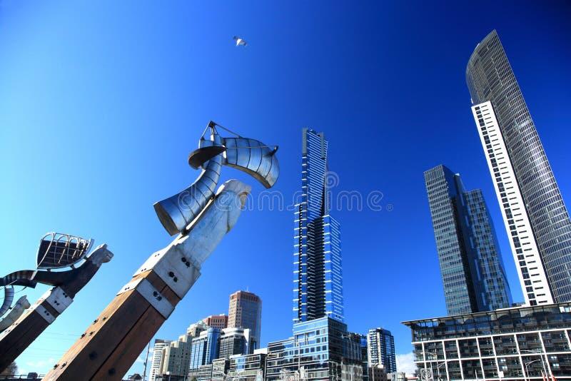 Horizonte de Melbourne imagen de archivo libre de regalías
