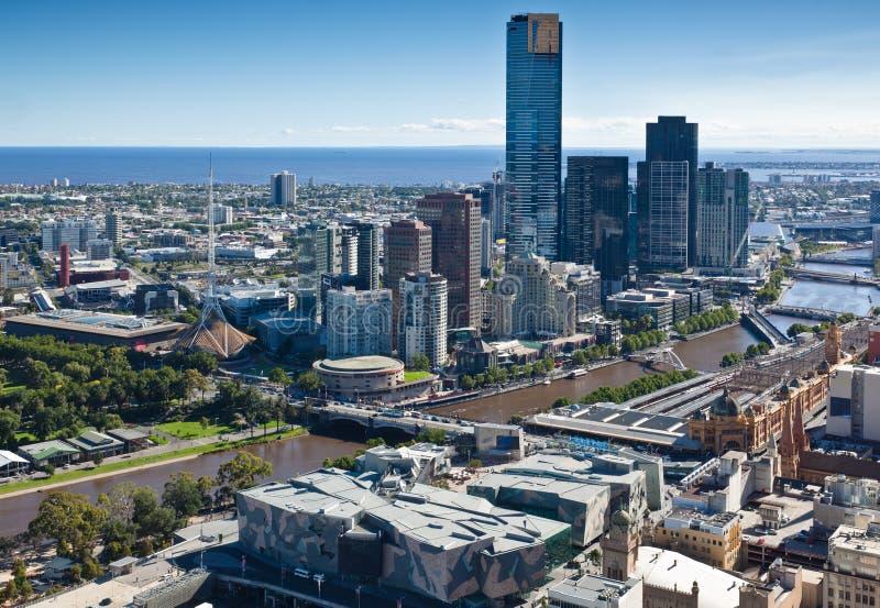 Horizonte de Melbourne fotos de archivo libres de regalías
